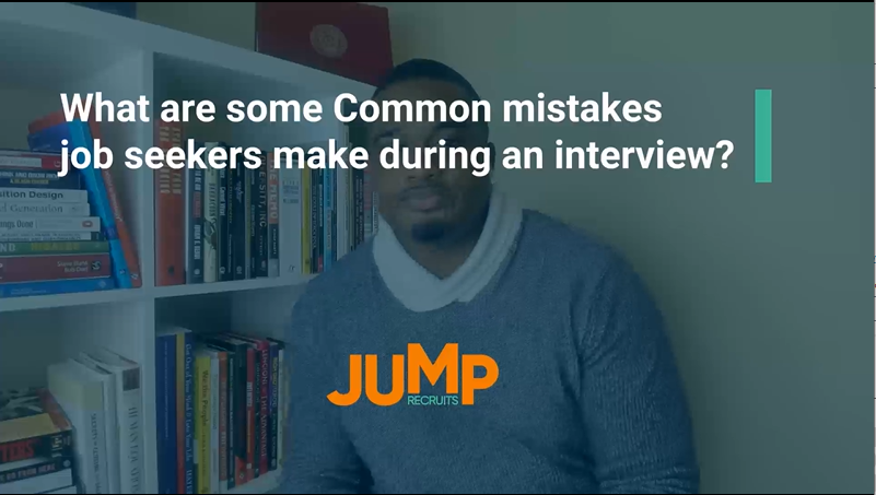 What are some common mistakes job seekers make during an interview?