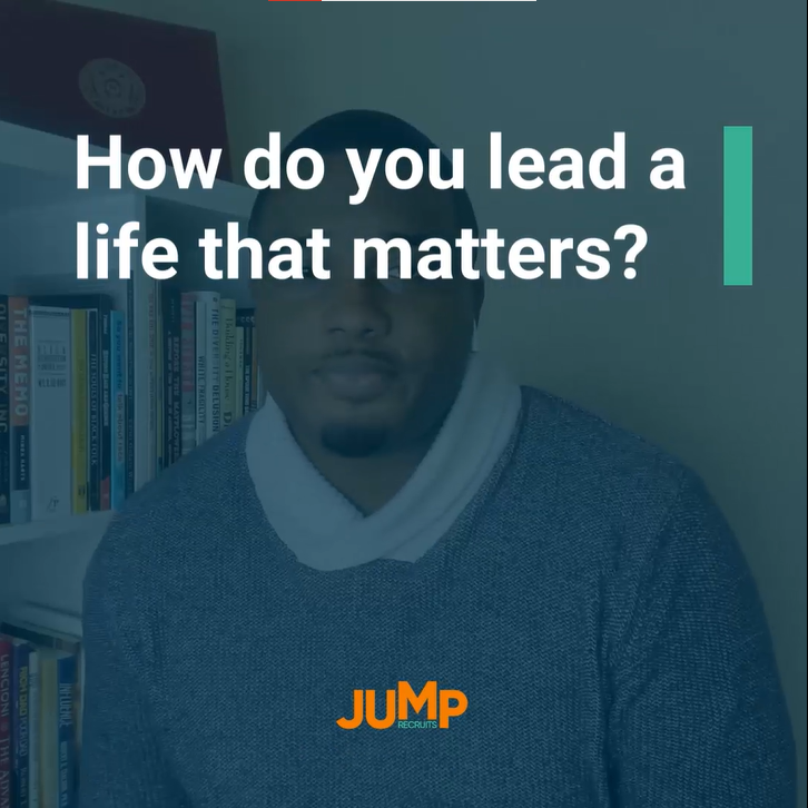 How do you lead a life that matters?